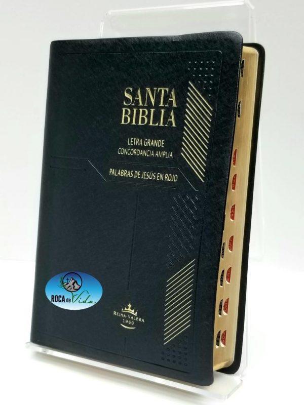 Biblia Letra Grande RVR 1960 Concordancia Amplia Color Negro con Indice