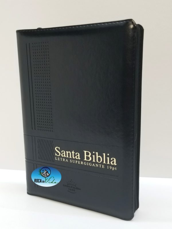 Biblia Reina Valera 1960 Letra Súper Gigante Color Negro con Índice