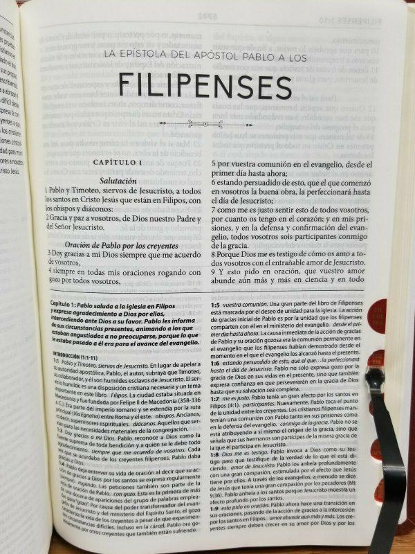 Biblia de Estudio Herencia Reformada RVR1960 Color Vino Tinto Simil Piel con Índice a