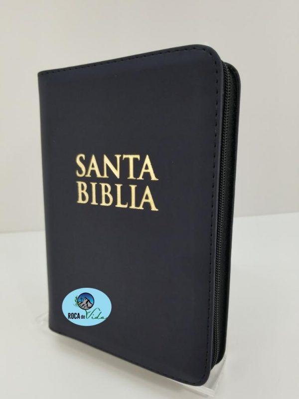 Biblia RVR 1960 Tamaño Compacto Color Negro para Jóvenes con Índice y Cierre