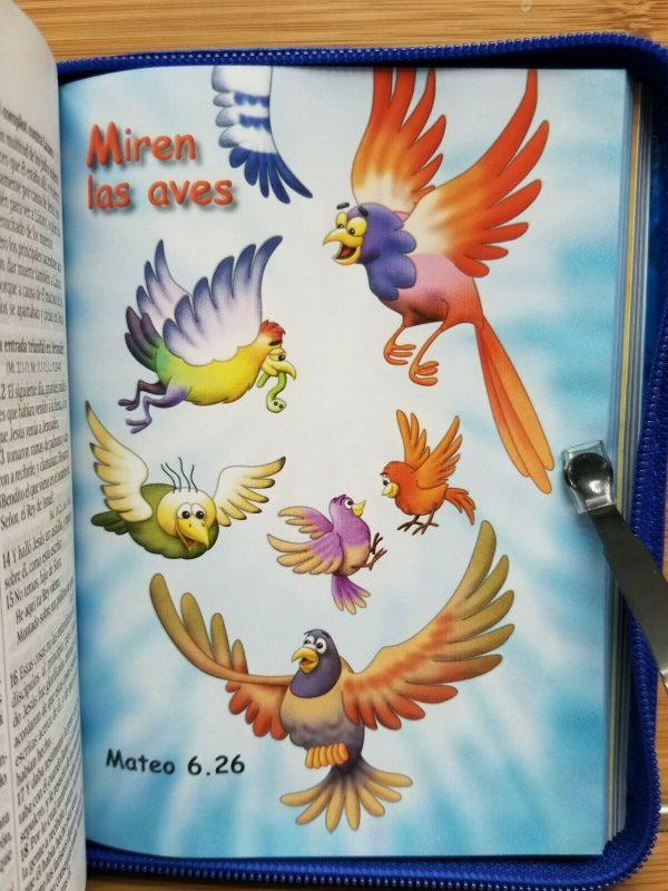 Biblia para Niños color azul con cierre a