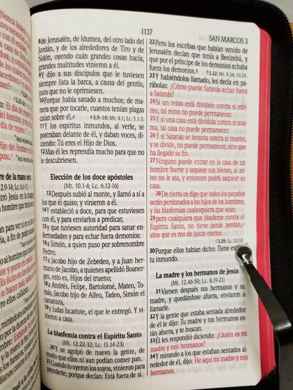 Biblia Letra Grande Reina Valera 1960 Palabra de Jesus en Rojo con Cierre