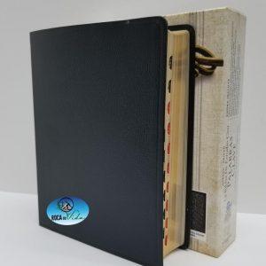 Biblia de Estudio Palabras Clave Reina Valera 1960 Piel Especial Color Negro con Índice