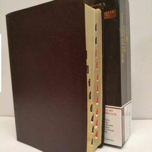 Biblia de Estudio del Expositor de Jimmy Swaggart de Piel Color Vino Tinto con Indice