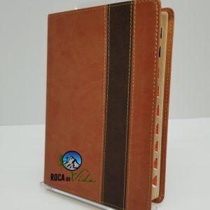 Biblia Letra Grande Reina Valera 1960 Simil Piel Color Cobre con Indice