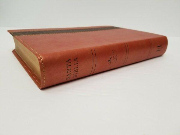 Biblia Letra Grande Reina Valera 1960 Simil Piel Color Cobre con Indice b