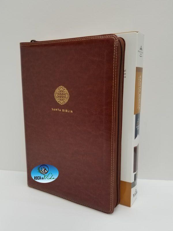 Biblia Reina Valera 1960 Letra Súper Gigante Color Café Imitación Piel con Índice