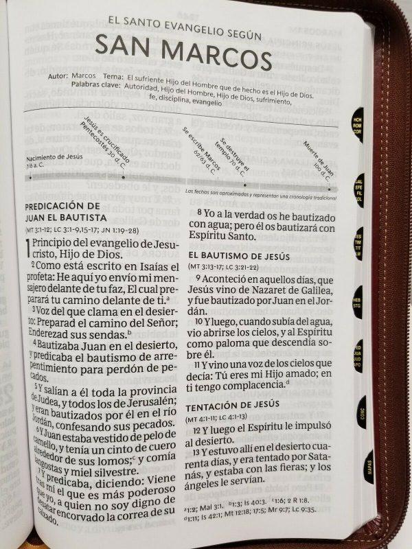 Biblia Reina Valera 1960 Letra Súper Gigante Color Café Imitación Piel con Índice b