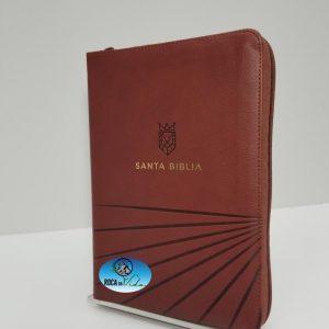 Biblia Reina Valera 1960 Letra Grande Tamaño Manual Color Café con Cierre e Índice