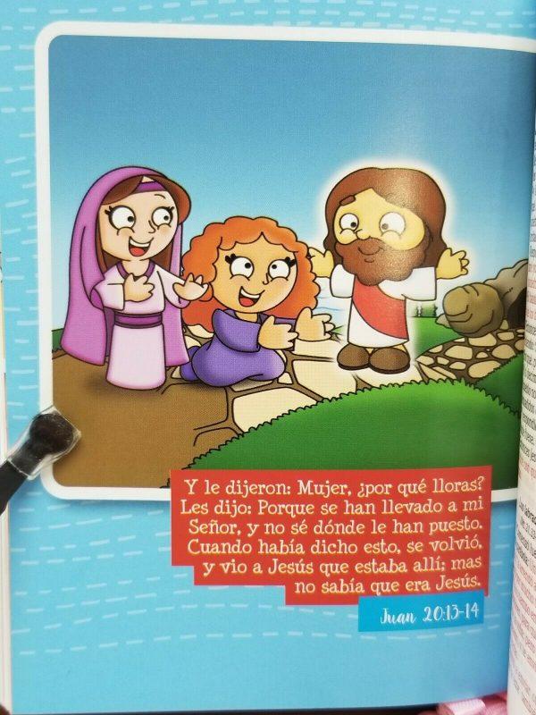 Biblia para Niños Mi Gran Viaje RVR 1960 Imitacion Piel Color Naranja con Cierre c