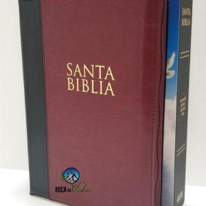 Biblia Reina Valera 1960 Letra Súper Gigante Color Borgoña con Índice y Cierre