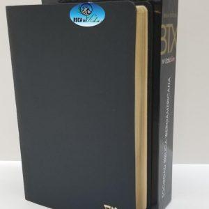 Biblia Textual IV Edición de Regreso a la Fuente Piel Genuina Color Negro