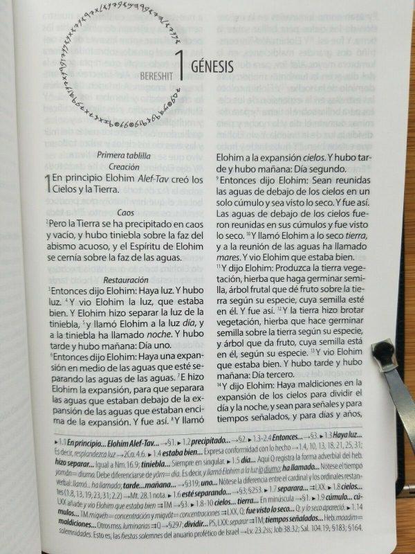 Biblia Textual IV Edición de Regreso a la Fuente Piel Genuina Color Negro b