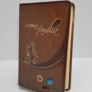 La Biblia de mi Familia Lenguaje Actual Imitación Piel Cafe