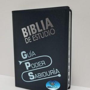 Biblia de Estudio GPS Traducción Lenguaje Actual Color Azul con Índice