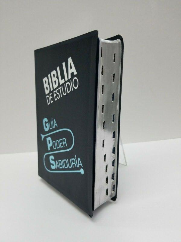Biblia de Estudio GPS Traducción Lenguaje Actual Color Azul con Índice a