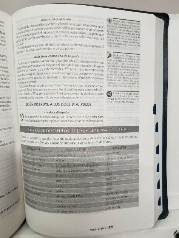 Biblia de Estudio GPS Traducción Lenguaje Actual Color Azul con Índice b