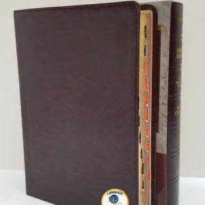Biblia Edición Clásica Letra Gigante NTV Vino Tinto con Índice