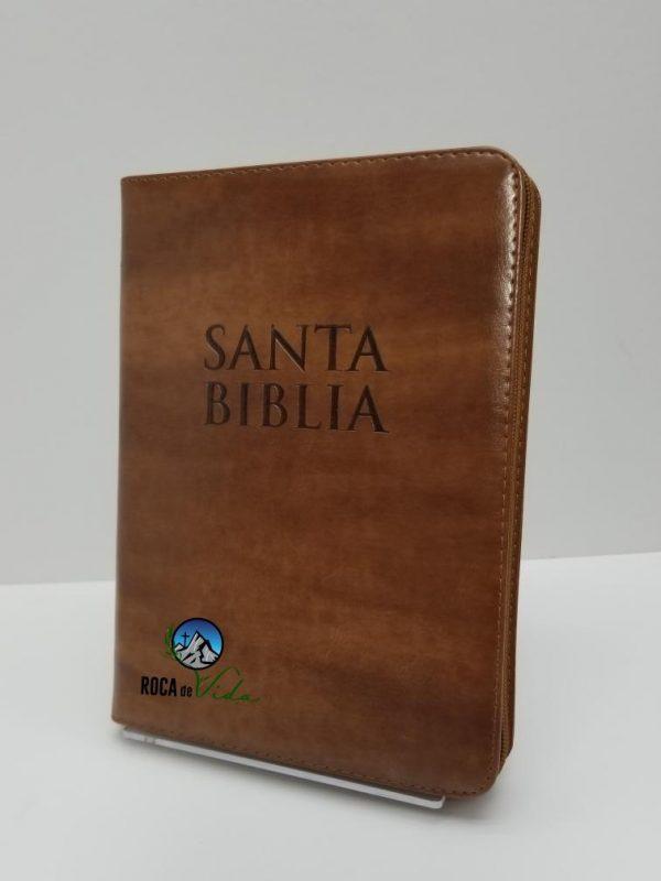 Biblia Reina Valera 1960 Letra Gigante Color Café Claro con Índice