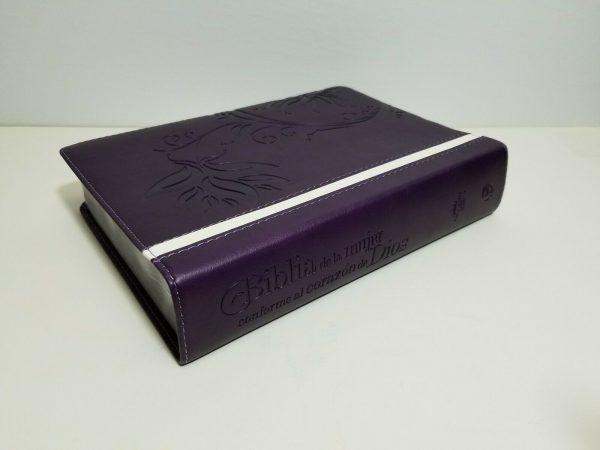 Biblia de la Mujer Conforme al Corazón de Dios RVR 1960 Morado con Índice b