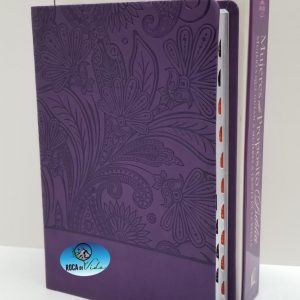 Biblia Mujeres de Propósito Reina Valera 1960 Piel Elaborada Púrpura con Índice