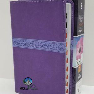 Biblia Mi Día con Dios Devocional para la Mujer RVR 1960 Lila Index
