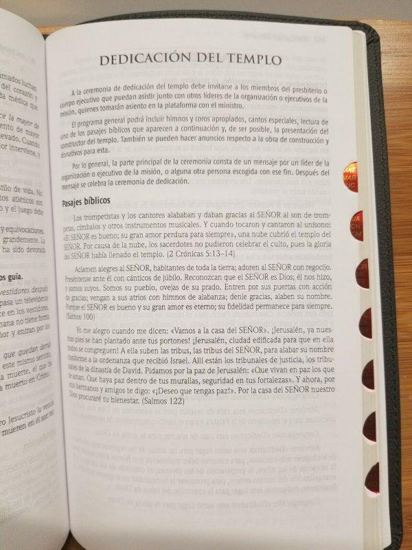 Biblia Del Ministro Reina Valera 1960 Versión Internacional negro Leathersoft con Índice a