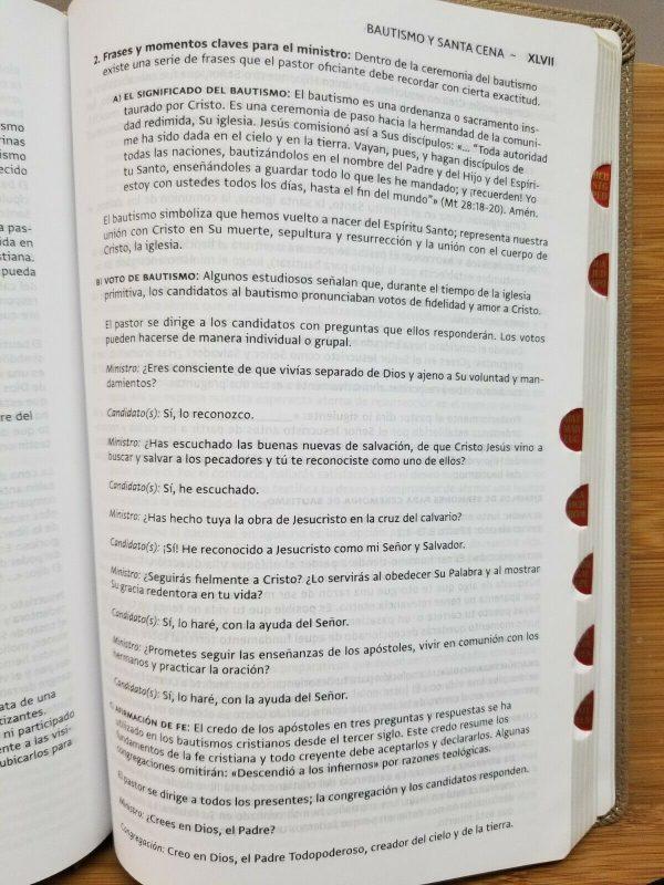 Biblia Del Ministro Letra Grande Version NBLA Piel Suave Cafe Castaño con Índice c