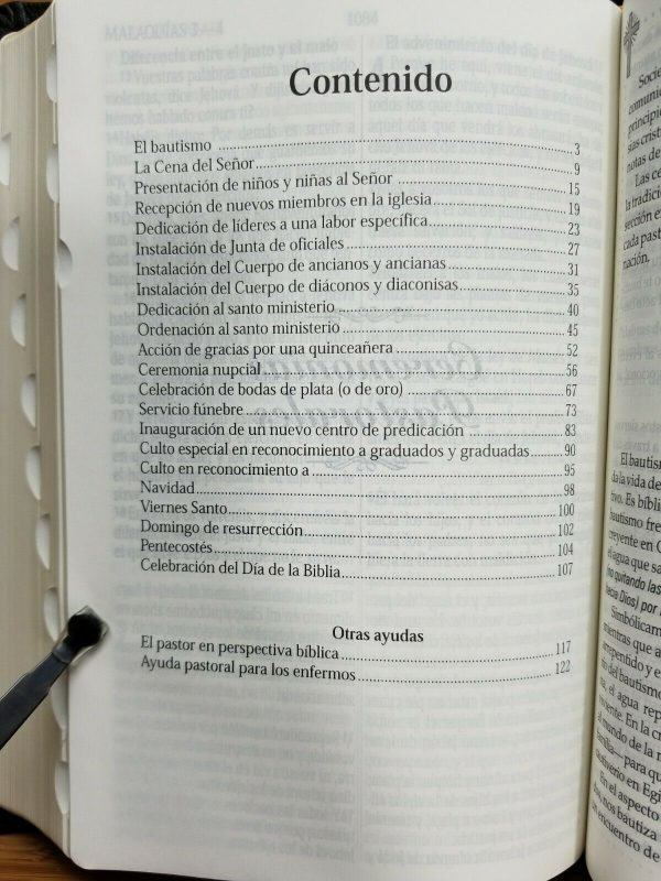 Biblia Pastoral Reina Valera 1960 Piel Fabricada Negro con Índice a