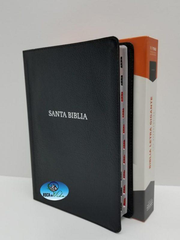 Biblia Reina Valera 1960 Letra Gigante Imitación Piel con Índice