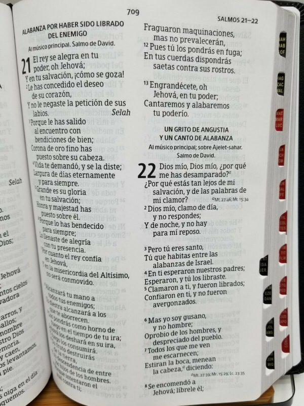 Biblia Reina Valera 1960 Letra Gigante Imitación Piel con Índice b