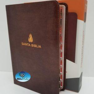 Biblia Reina Valera 1960 Letra Gigante Imitación Piel Marrón con Referencias