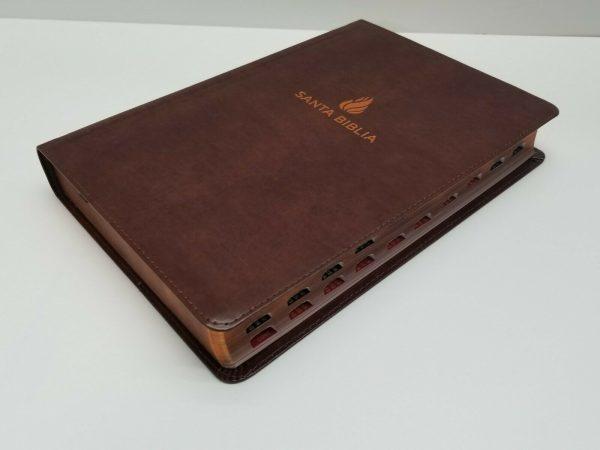 Biblia Reina Valera 1960 Letra Gigante Imitación Piel Marrón con Referencias a