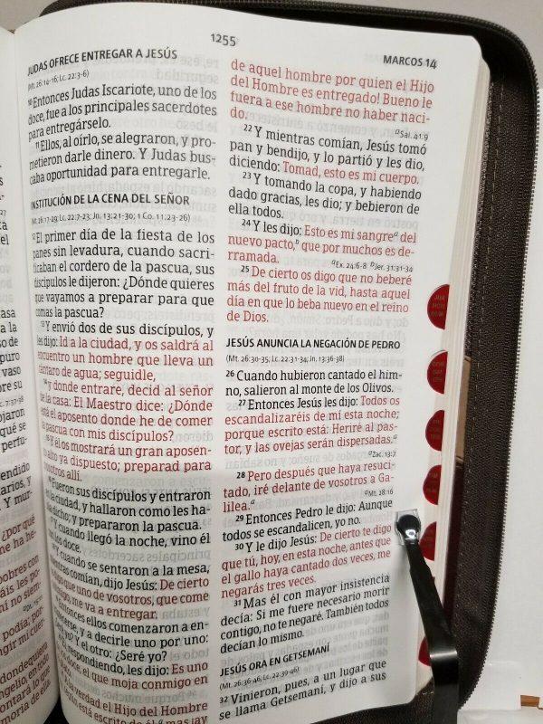 Biblia Reina Valera 1960 Letra Gigante Imitación Piel Marrón y Tostado con Índice b