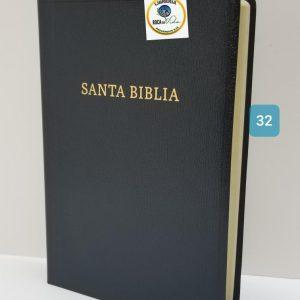 Biblia Reina Valera 1960 Letra Gigante Imitación Piel Negro con Referencias