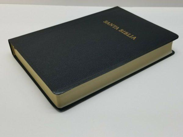 Biblia Reina Valera 1960 Letra Gigante Imitación Piel Negro con Referencias a