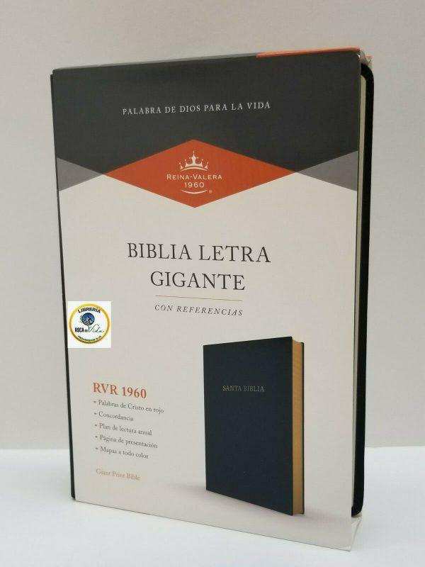 Biblia Reina Valera 1960 Letra Gigante Imitación Piel Negro con Referencias b