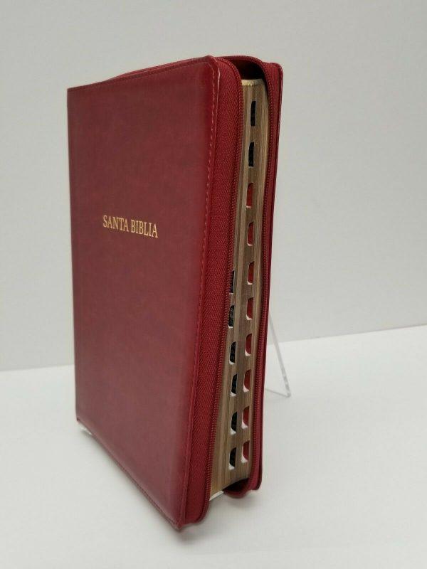Biblia Reina Valera 1960 Letra Gigante Color Vino con Índice b