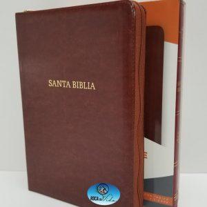 Biblia Reina Valera 1960 Letra Gigante Color Marrón con Índice